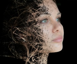Paintography. Artwork created by combining a portrait with a hand drawn element