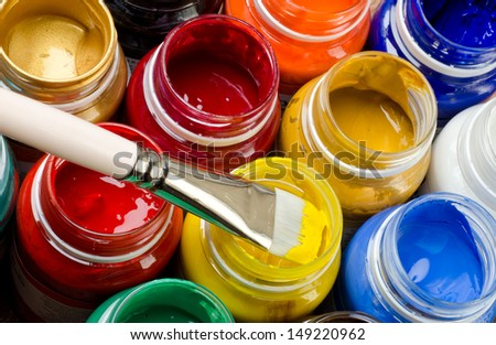 Paints and brush #149220962