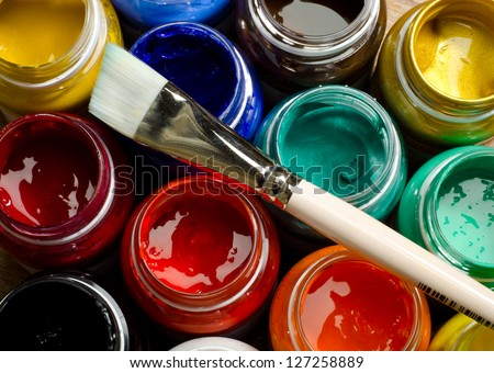 Paints and brushes #127258889