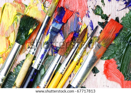 Paints and brushes #67717813