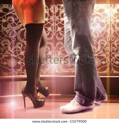 Pair in the bar - club / disco - date