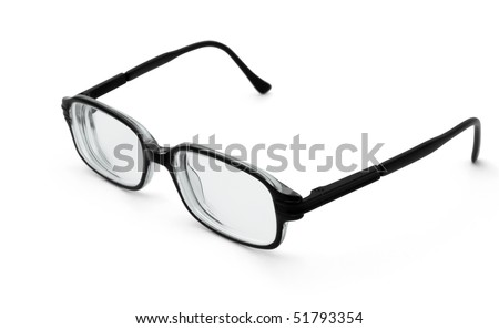 Pair of black glasses isolated on white