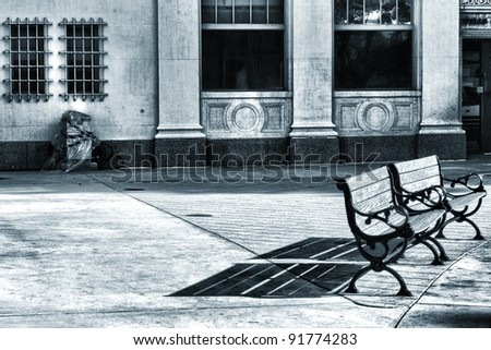 Pair of City Benches