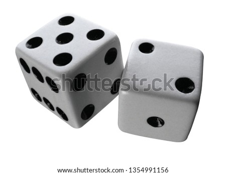 pair of dices on white #1354991156