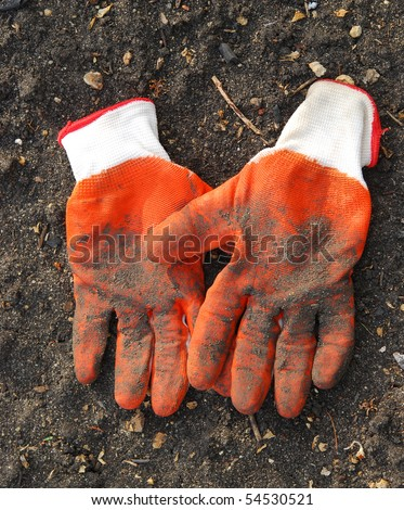 pair of dirty gloves