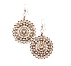 Pair of earrings isolated on the white background.