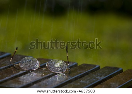 Pair of Glasses Sitting in the Rain (2729)