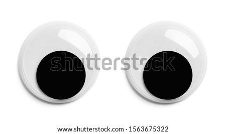 Pair of Googly Eyes Isolated on White Background.