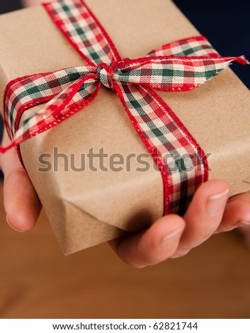 Pair of Hands Holding Present