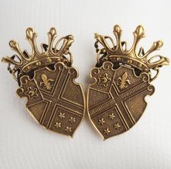 Pair Of Heraldic Shields Image