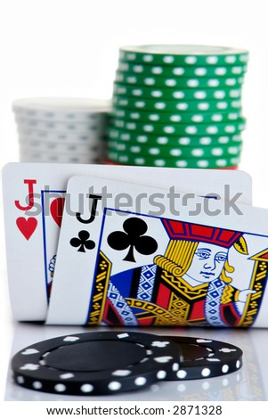 Pair of Jack and poker chips