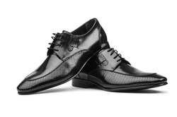 Pair of male shoes isolated on the white