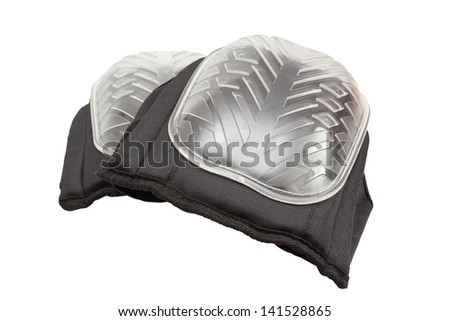 pair of new knee protectors for work over white background