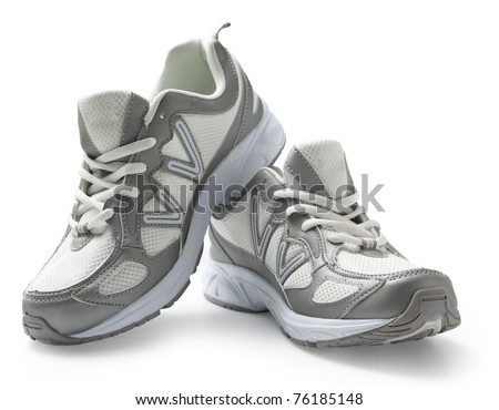 Pair of running shoes isolated in white background. With clipping path.