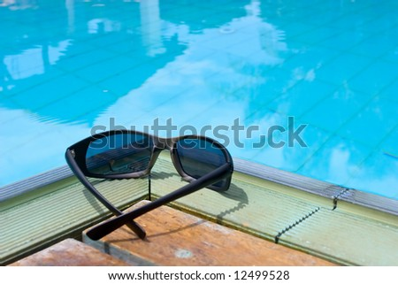 Pair of shades by the pool.