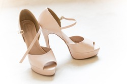 Pair of Shoes - Highheels in a white background
