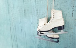 Pair of White Ice Skates
