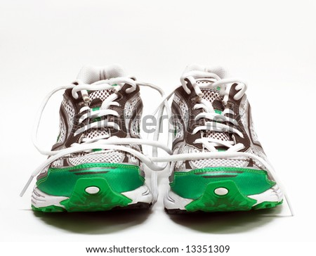 Pair of womens running shoes