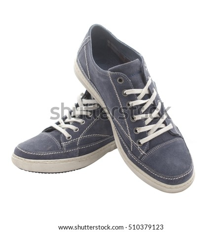 pair of youth shoes blue #510379123