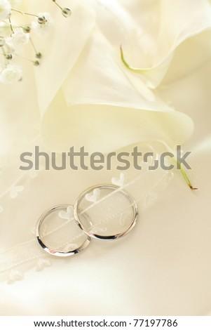 Pair Platinum ring for wedding image