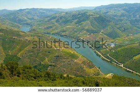 Paisagem alto douro. Sao Leonardo mount, Galafura, Portugal.
