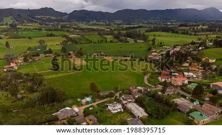Paisaje colombiano con espectaculares vistas (Tabio, Cundinamarca) Foto stock ©