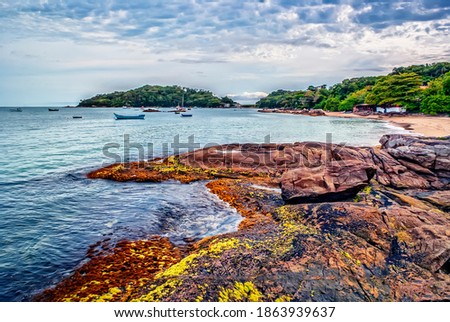Paisaje de Bombinhas (Colores y Mar) Zdjęcia stock ©