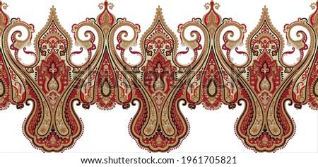 paisley abstract border pattrern vintage motifs