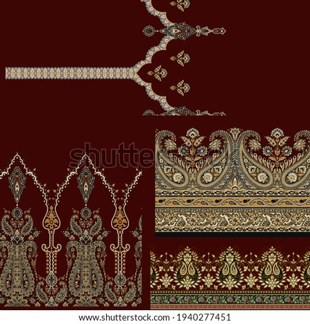 paisley and border and colorfully and beautiful