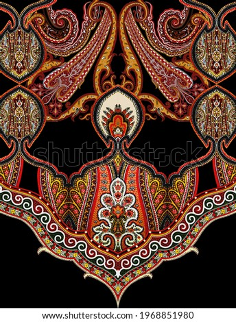 paisley motif and colorfully and beautiful