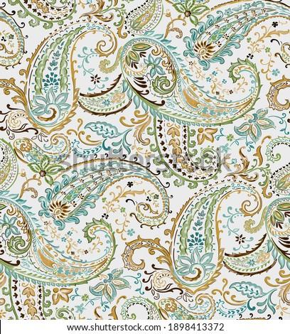 Paisley pattern print background ,wallpaper, card
