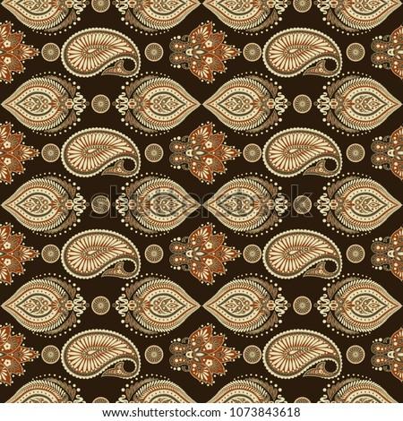 paisley pattern. seamless asian ...