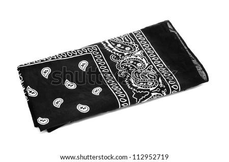 Black And White Paisley Bandana Pattern Paisley Patterned Black Black