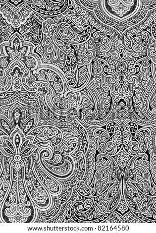 Paisleys - XXL Hand drawn paisleys
