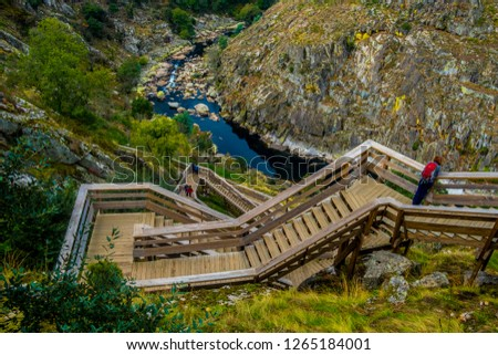 Paiva Walkways are located on the left bank of the Paiva River, in Arouca, Aveiro, Portugal.