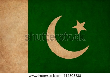 Pakistan flag drawing ,grunge and retro flag series