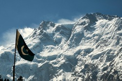 Pakistan flag, Nanga Parbat, Fairy meadows, Karakoram highway, Pakistan