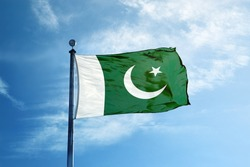 Pakistan flag on the mast