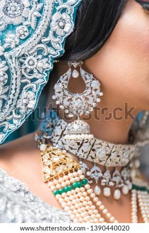 Pakistani Muslim Bride Wearing Bridal Jewelry #1390440020