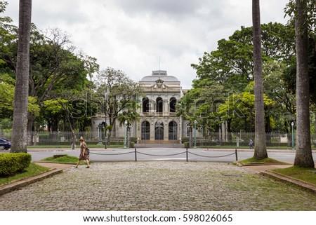 Palácio da Liberdade, seat of the government of the state of Minas Gerais, located in Praça da Liberdade, Belo Horizonte. #598026065