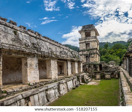 Shutterstock Palace and observatory at mayan ruins of Palenque - Chiapas, Mexico