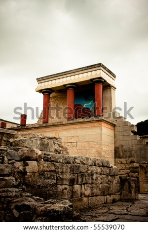 Palace at Knossos Archeological Site in Crete, Greece
