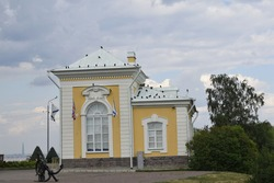 palace ensemble in the park, a place of rest for people