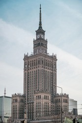 Palace of Culture and Science in Warsaw. The symbolic of communism in Poland