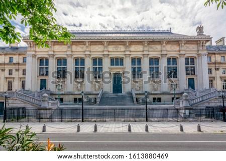 Palace of Justice (Palais de Justice) on Cite island, Paris, France ストックフォト ©