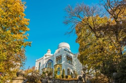 Palace of the Emir of Bukhara in the park of the city of Zheleznovodsk. Built in 1912. HDR image.