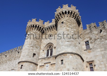 Palace of the knights on the island of Rhodes, Greece