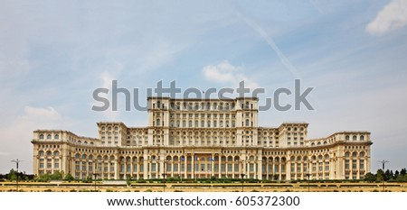 Palace of the Parliament of Romania in Bucharest. Romania #605372300