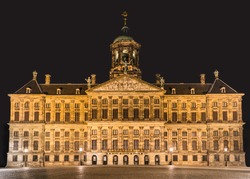 Palace on the Dam square in Amsterdam