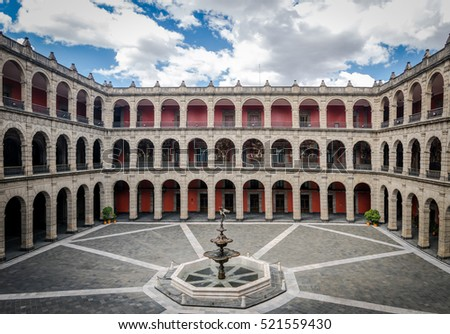Shutterstock Palacio Nacional (National Palace) Fountain - Mexico City, Mexico